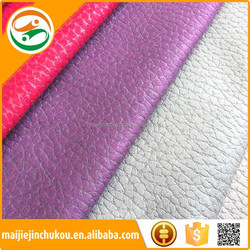 Woven And Non Woven Backing Faux Leather Upholstery Fabric For Chair And Cars