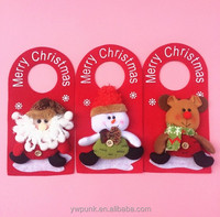 3 Styles Merry Chritmas Hangings Door Wall Decoration for Santa Decor Xmas Dolls Santa Claus Snowman Deer Gifts Length 10""