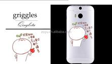 Wholesale Custom Design Light Weight Bulk 3D Clear Blank Sublimation Plastic Mobile Phone Case for htc m8 case