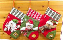 Santa Claus Christmas gift trade Christmas stockings socks apple candy bags Santa Claus sock Christmas stockings