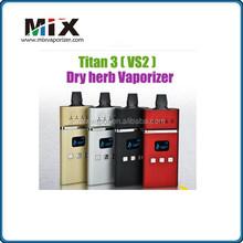 2015 Newest ecig design Dry Herb Vaporizer best portable titan 3 &VS2 vaporizer Titan 3 vaporizer &best quality titan3 vaporize
