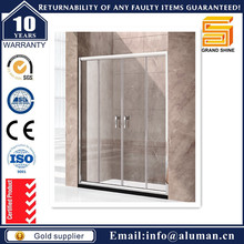 1 door square shape glass shower partition for Residential Commercial