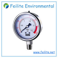 Feilite all stainless steel and Liquid Filled Pressure Gauge