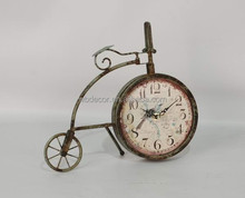 2015 New Design Bicycle Shape Creative Clock, Table Top Clock