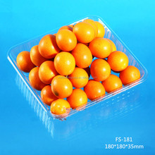 China Supplier Square Disposable Plastic fruits tray without lid