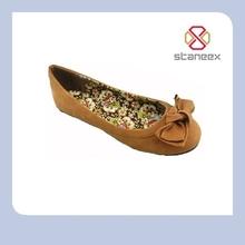 Bowknot decoration handmade girls' ballet heels