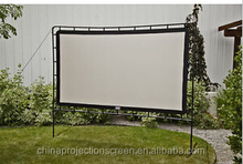 3D Sliver front fast fold projection screen, portable flight case, easy move and portable, Large fast fold projection screen.