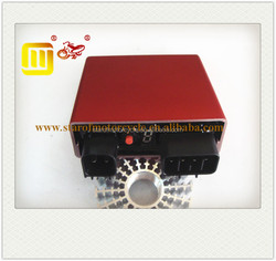 racing motorcycle CDI unit LC 135 adjustable in bright red