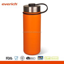 Powder Coated 1000ml Stainless Steel Thermal Water Bottle With Loop Lid
