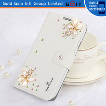 Newest Luxury Flower Crystal Diamond Flip Cover For Samsung For Note3 N9000 Protective Diamond Case
