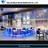 2013 hot sale acrylic solid surface lighted bar counter top