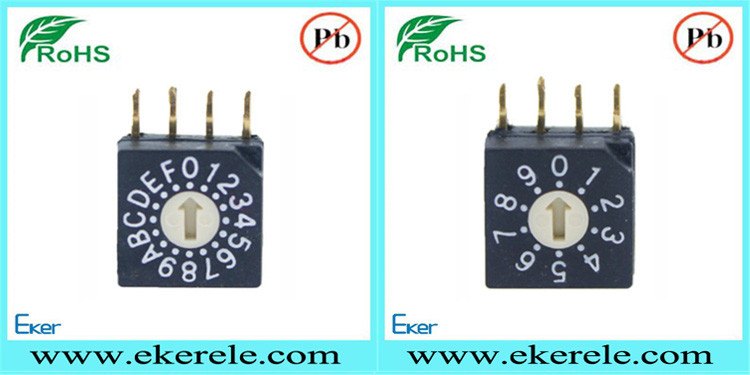 Right Angle 254mm Position 4 8 10 16 Rotary Dip    Switch