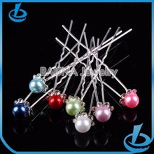 Various color pearl bobby hairpins for hair