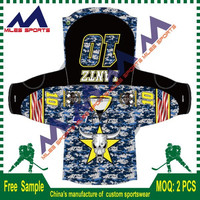 Custom sublimation printing Camo ice hockey jerseys free sample