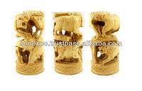 10pcs Hand Carved Indian Elephant,Tiger & Camel Shikar Wooden Handicraft Sculpture Wholesale Lots
