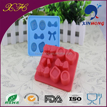 Wholesale unique design silicone ice cube tray with lid