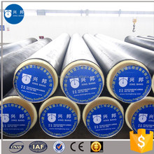 API5L standard insulation spiral steel pipe with heat shrinkable sleeve for hot and chilled water pipeline systems