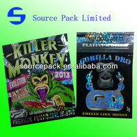 Gorilla Dro -3g spice herbal incense bags/Bling Bling Monkey herbal incense bags/Killer Monkey or Sexy Monkey potpourri bags