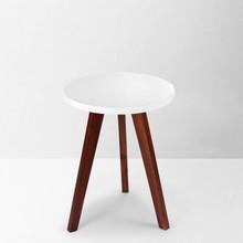 LB-DD6008 Melamine top solid wood legs white desk for living room furniture