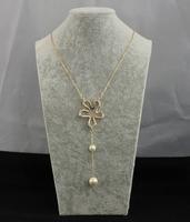 Queenzen Fashion Flower Necklace Hot Sale Faux Bijoux