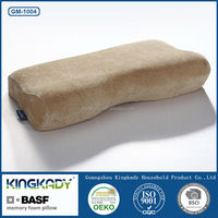 Cheap wholesale upholstery leather scraps non-toxic spine care memory foam pillow