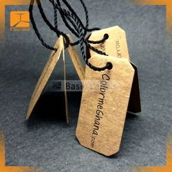 Printed Technics and Paper hang tag/Clothing Leather ect Material folded hang tag