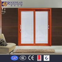 Rogenilan double frosted glass aluminum closet door design for bathroom sliding glass door