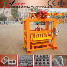 On sale quality steel made qtj4-40 concrete blocks machine for making hollow block and pavement bricks popular in Africa Asia