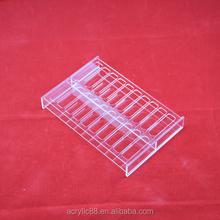crystal acrylic tube rack display holder for test use