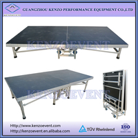 Wedding stage platform portable collapsible stage