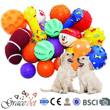 Soft rubber dog toy with eco-friendly material