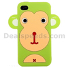 New Soft Cartoon Monkey Style Silicone Case Cover for iPhone 4 / iPhone 4S