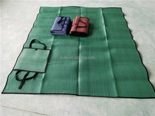 size/color can be customized picnic mat/beach bag with straw mat