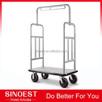 Luxury Stainless steel Easy-Mover Bellman's Cart, hotel trolley