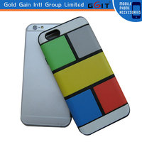 Special Design Colorful Back Cover PC Case for iPhone 6, With Separating Parts PC Case Back Cover for iPhone 6