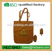 Long handle foldable reusable bag recyclable tote