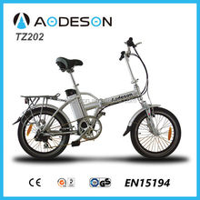 "20"" alalloy frame and bafang 8fun motor mini folding electric bike/bicycle TZ202 bicicleta eletrica"