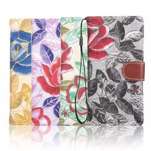 Hot Selling Floral Flower Leather Wallet Case for Sony Ericsson Z5,Wallet Case for Sony Z5