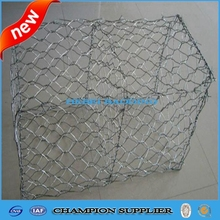 hot dipped galvanized stone gabion box / rock filled gabion baskets