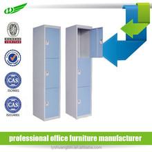 Cabinet designs for small bedroom/ decorative storage locker cabinet/ 3 doors steel cabinet clothing locker