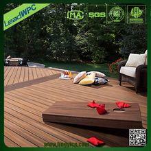 absence of crack &twist wpc building material decking feet waterproof flooring/cork back