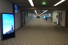65inch airport and star hotel hall floor standing lcd digital display, floor standing vertical display