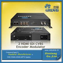 DVB-C/T/ATSC/ISDB-T HD encoder modulator with MPEG4/AVC H.264 encoding