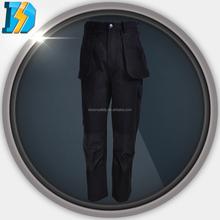 leather welding sleeve with 2 slide pockets and 1 side pocket on left leg