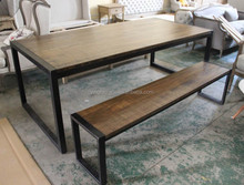 Real Wood Wrought Iron Dining Room Furniture Of Amercim And French country LOFT Style