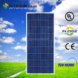 Bluesun saving energy CE TUV ISO fully certified 150w poly suntech solar panel