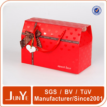 Company name of paper bag with bow for cosmet