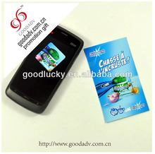 Custom gift factory price excellent microfiber cell phone screen cleaner sticker