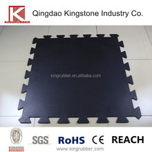Colored rubber gym flooring