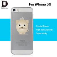 Transaparent gel epoxy mobile phone case for iphone 5s case